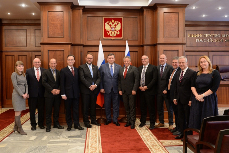Igor Zubov's meeting with delegation of Government Conference of the Military, Civil Defence and Fire Brigade of Swiss Confederation
