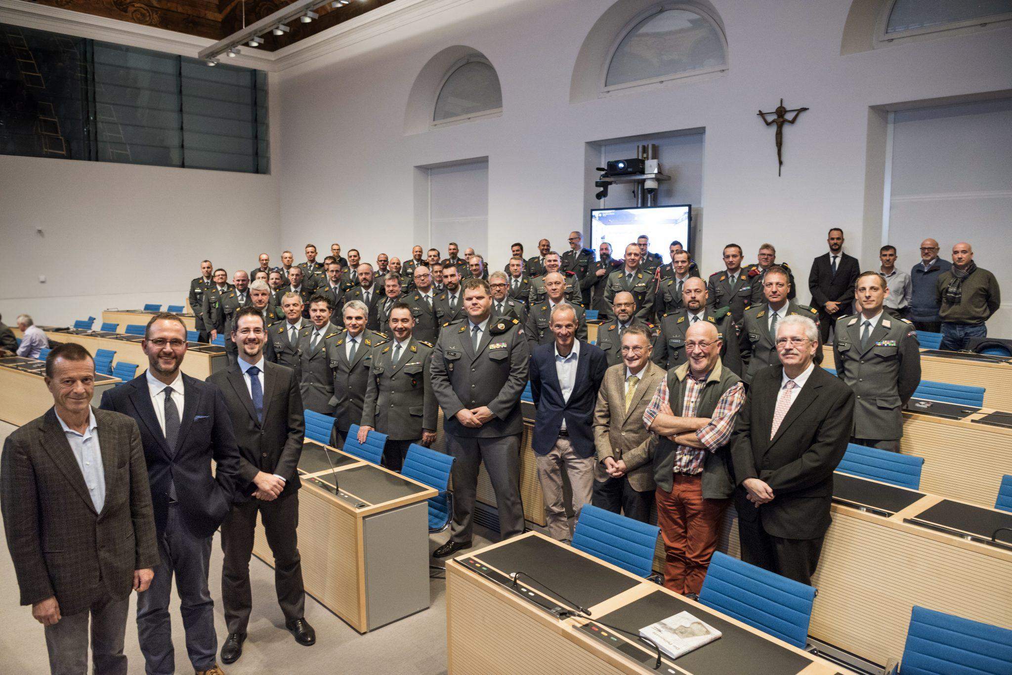 Norman Gobbi incontra ufficiali e sottufficiali professionisti dell'Esercito – Ospite l'ingegnere Sergio Magistri