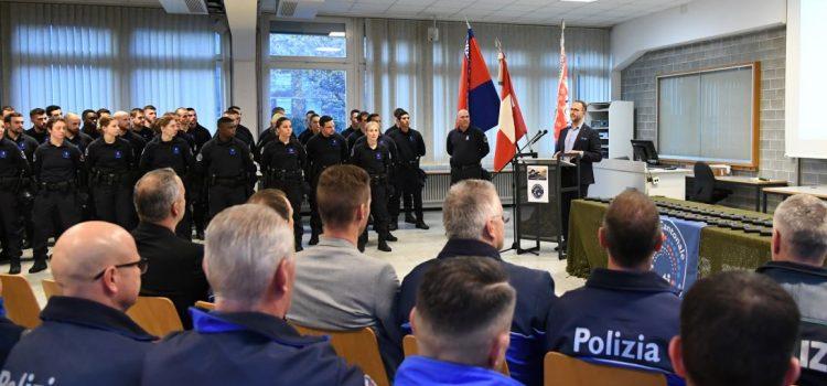 Cerimonia di Consegna dell'arma per la Scuola di polizia del V° circondario