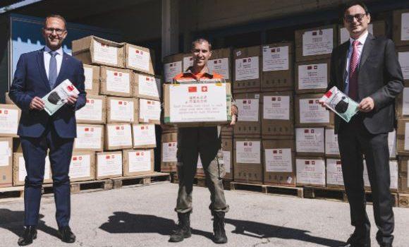 Coronavirus: la provincia dello Zhejiang dona materiale sanitario al Canton Ticino