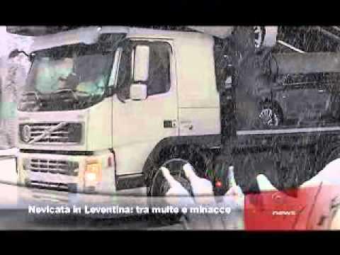 Nevicata in Leventina: tra multe e minacce