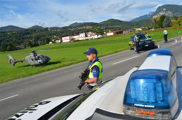 Operazione di Polizia cantonale e Guardie di confine nel Sottoceneri