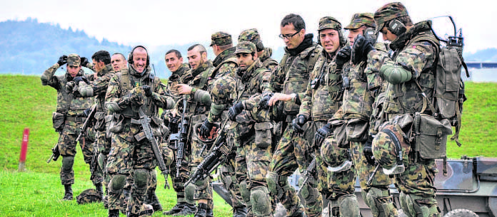 Un esercito preparato a intervenire con urgenza