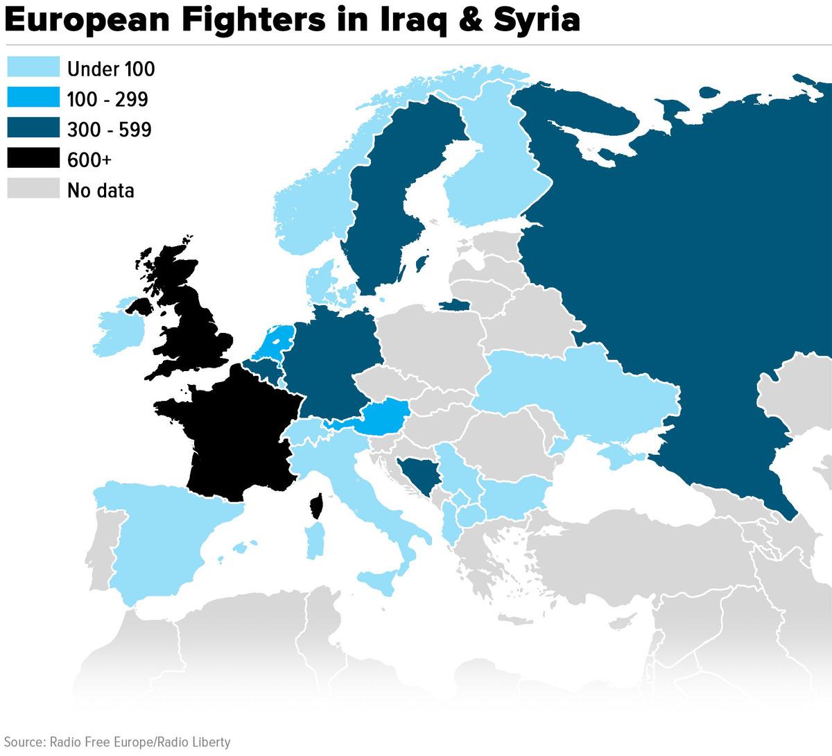 Combattenti europei in Siriae Irak: un pericolo per noi