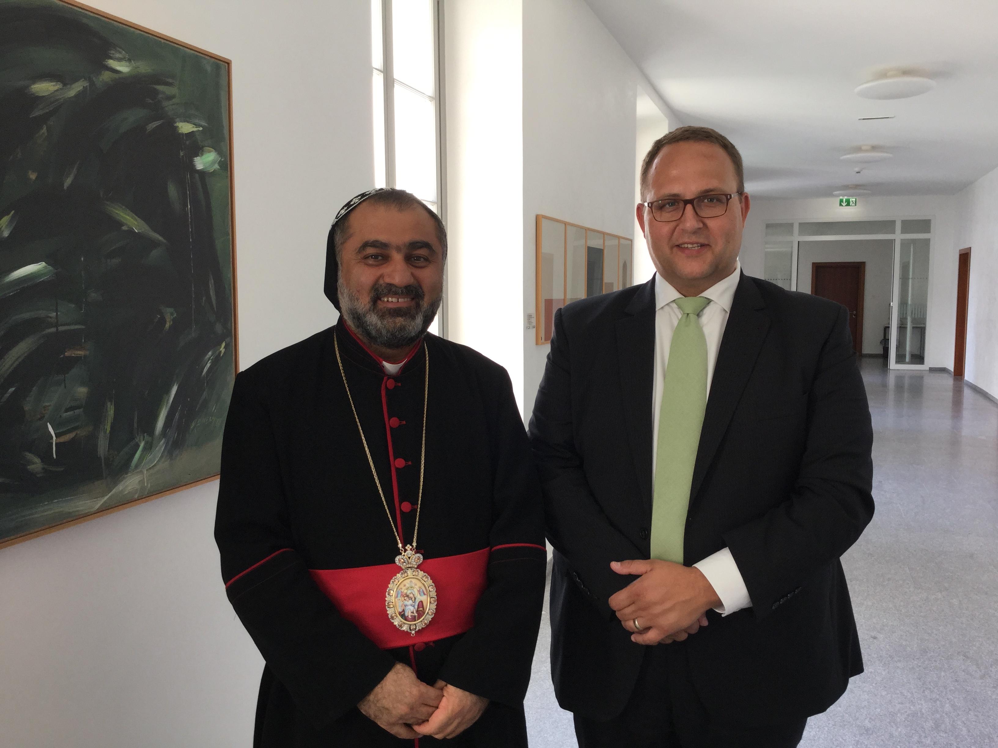 Il presidente del Consiglio di Stato incontra il vescovo siro-ortodosso di Zahle (Libano)