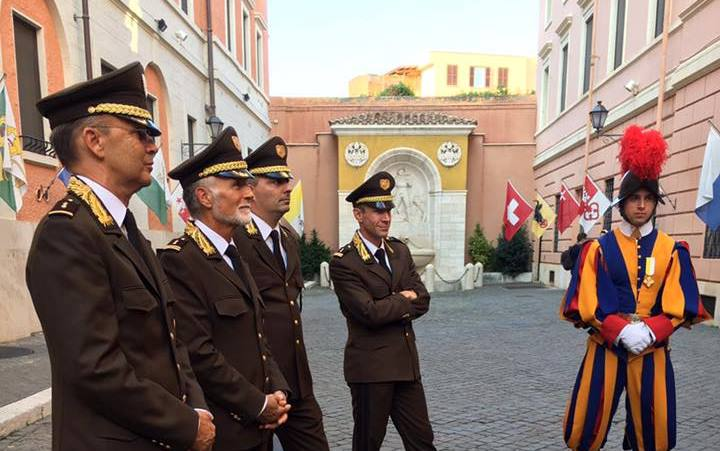 Guardie Pontificie, formazione in Ticino