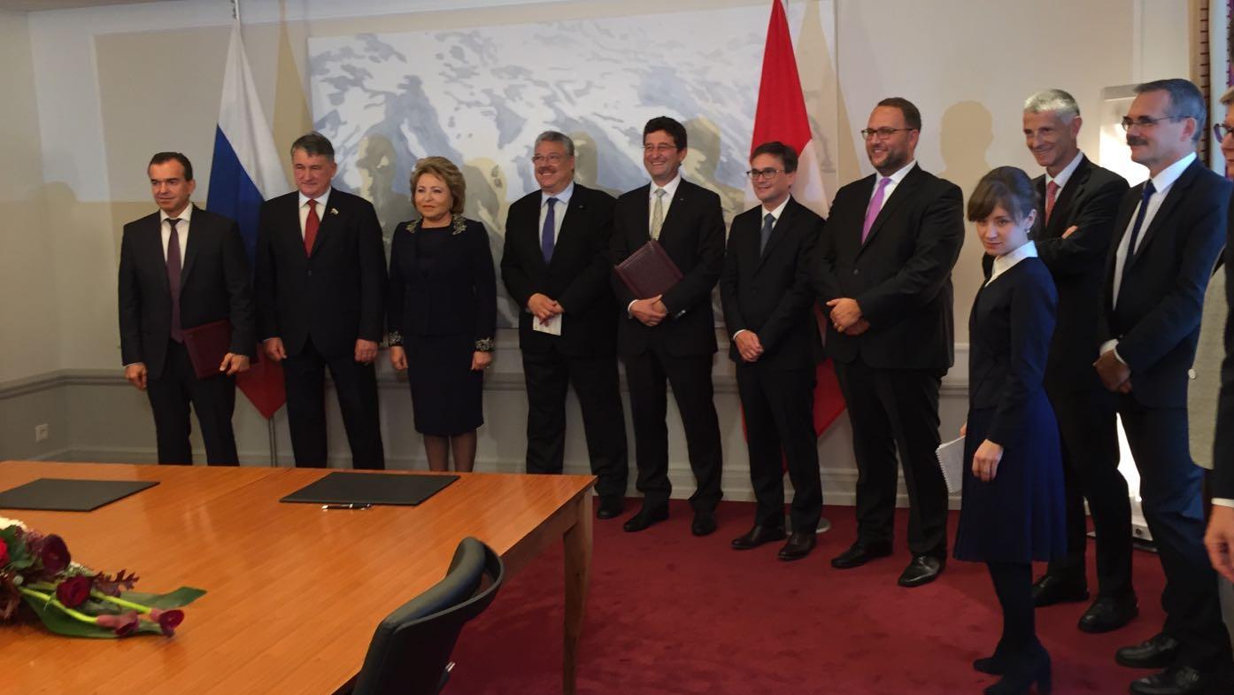 Un accordo di cooperazione internazionale fra il Ticino e la regione di Krasnodar (Russia)