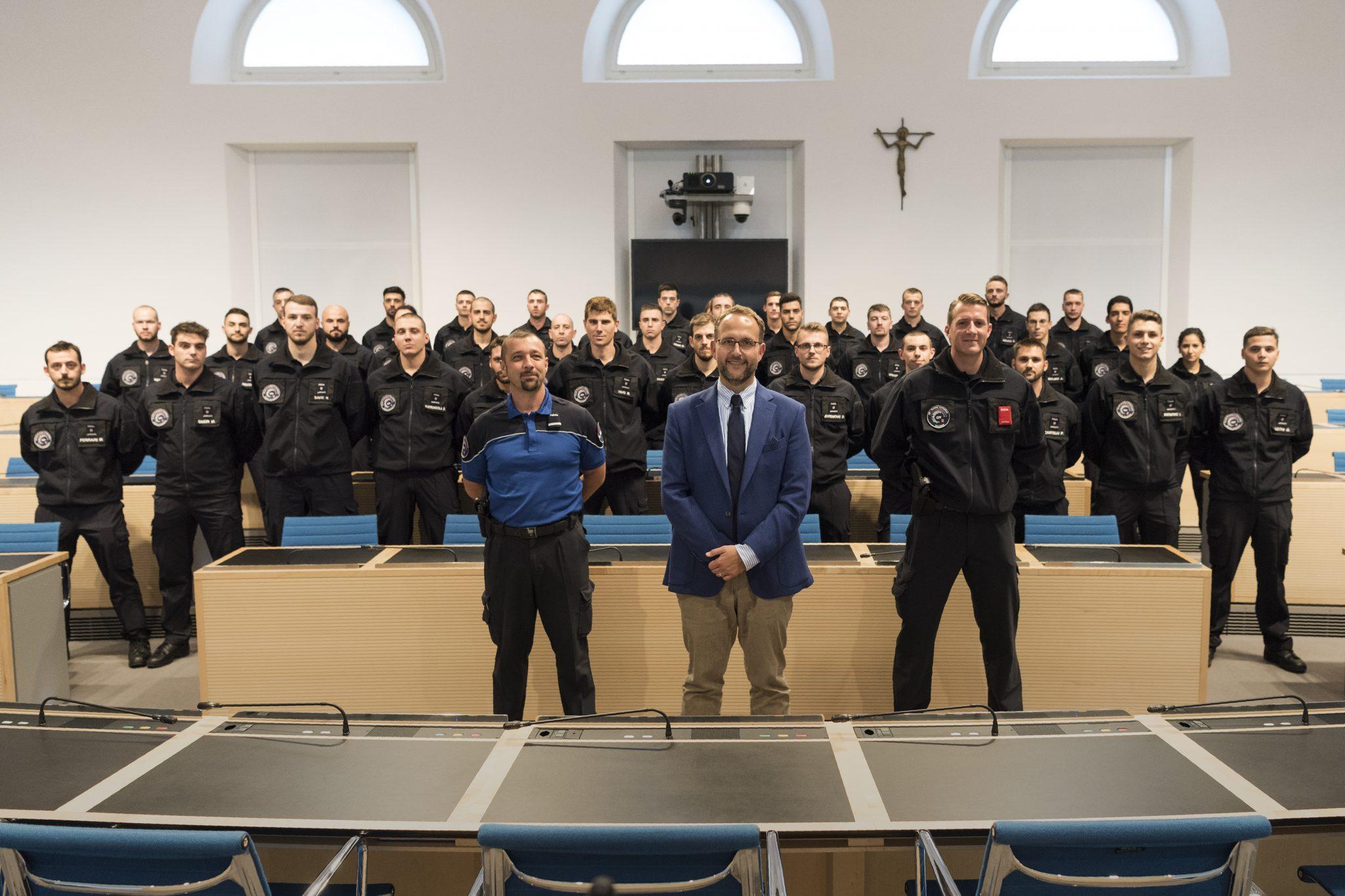 Il Direttore del Dipartimento delle istituzioni incontra gli aspiranti agenti della Scuola cantonale di polizia
