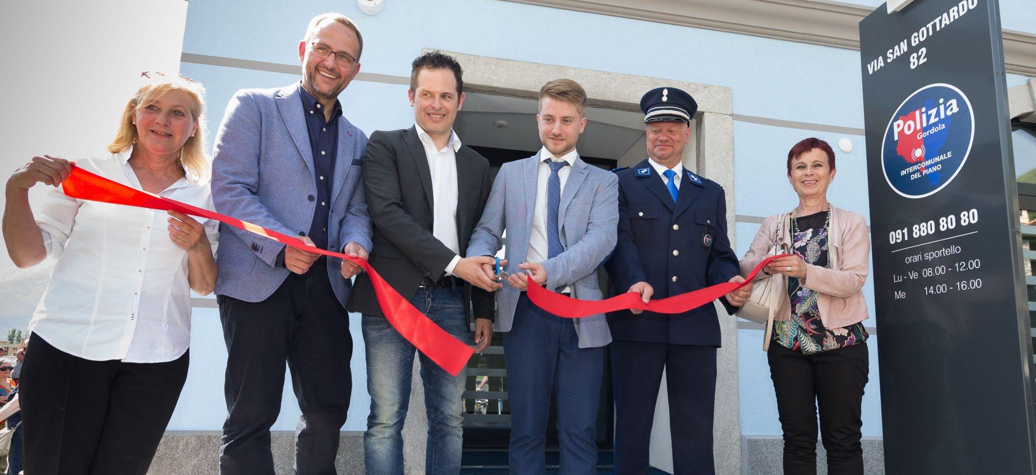 Gordola: inaugurazione nuova sede della Polizia intercomunale del Piano