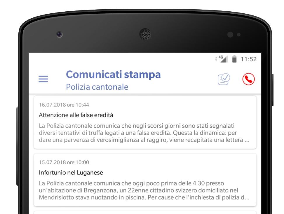 """Nuova versione dell'App """"Polizia e Territorio"""" uniti per meglio informare il cittadino"""