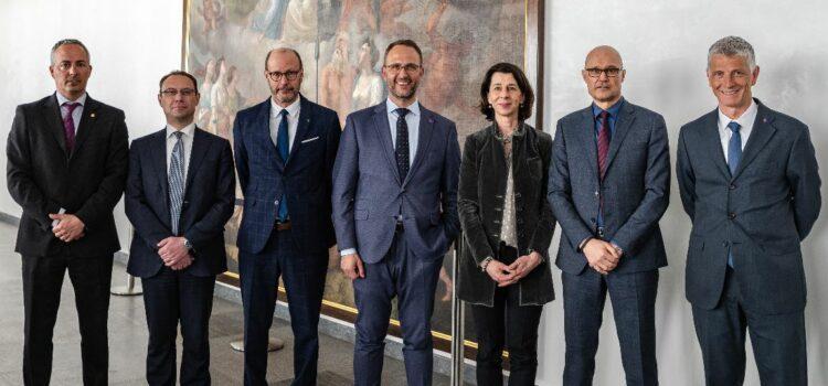 Delegazione del Principato del Liechtenstein in visita a Bellinzona