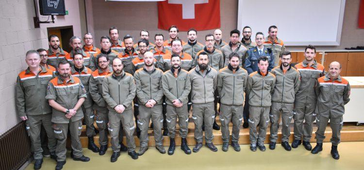 Dipartimento delle istituzioni: promozione ufficiali di Protezione civile