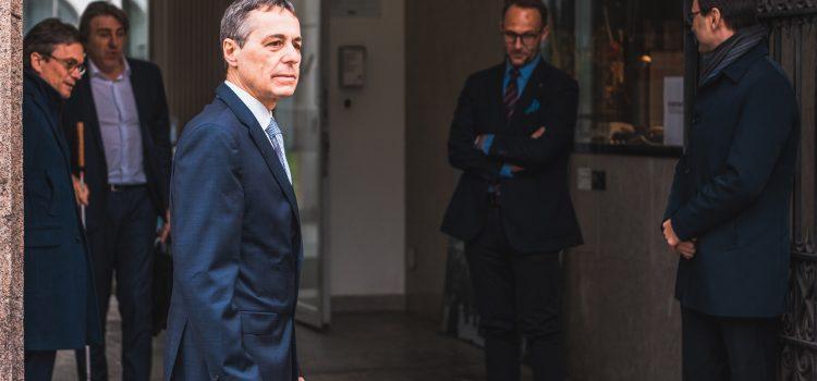 Coronavirus: visita del Consigliere federale Ignazio Cassis
