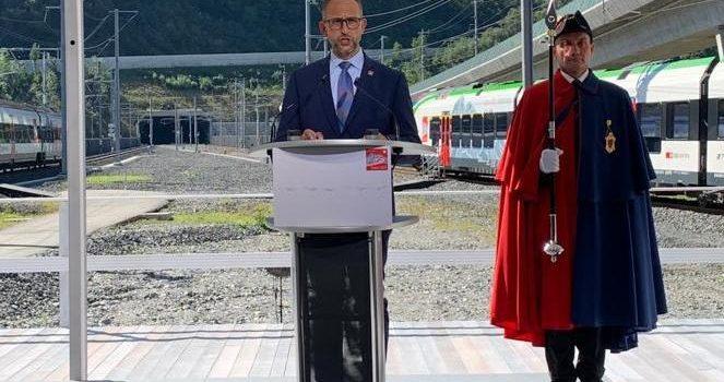 Discorso pronunciato in occasione della cerimonia di inaugurazione della galleria ferroviaria del Monte Ceneri