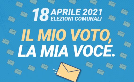 Elezioni comunali 2021: «Il mio voto, la mia voce»
