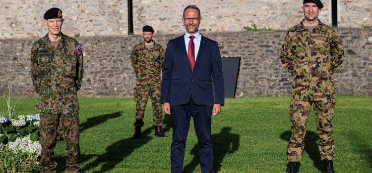 Visita del Capo di Stato maggiore delle Forze Armate del Lussemburgo