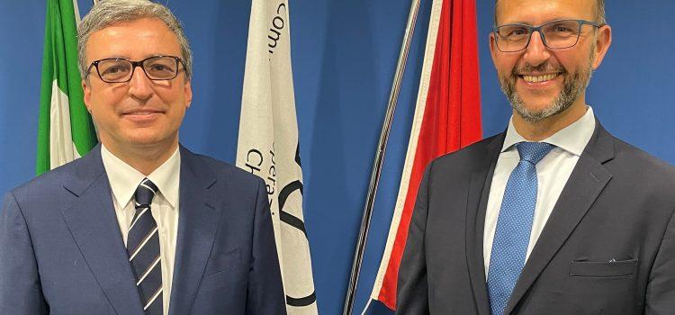 Il Consigliere di Stato Norman Gobbi ha incontrato il Prefetto di Como Andrea Polichetti al CCPD di Chiasso