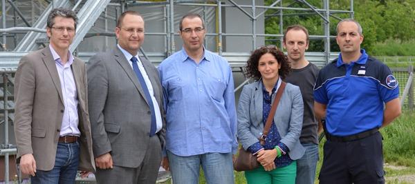 Cocchi e Gobbi in visita al cantiere del nuovo Comando della Polizia cantonale