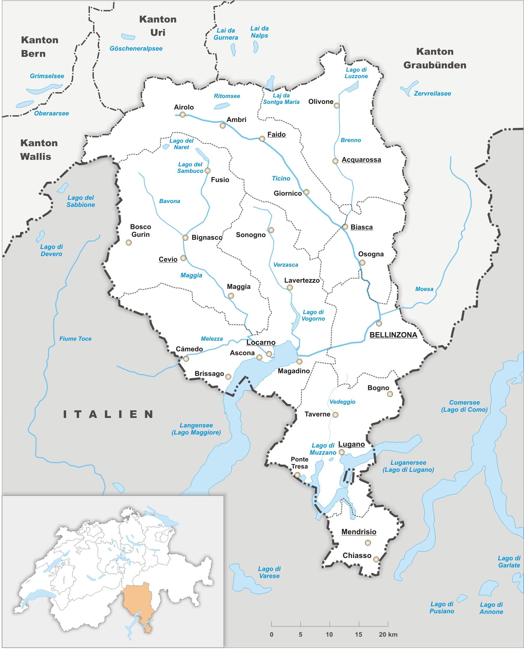 Tessiner Regierung will den Kanton neu entwerfen