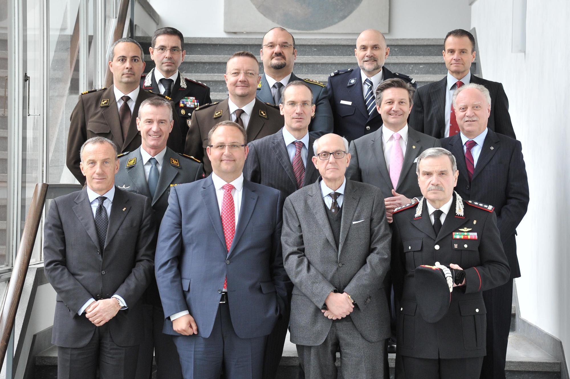 """Incontro italo-svizzero """"Sicurezza transfrontaliera e Expo 2015"""""""