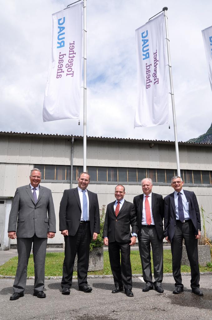 Visita alla Ruag Aviation di Lodrino e incontro con il CEO RUAG Breitmeier