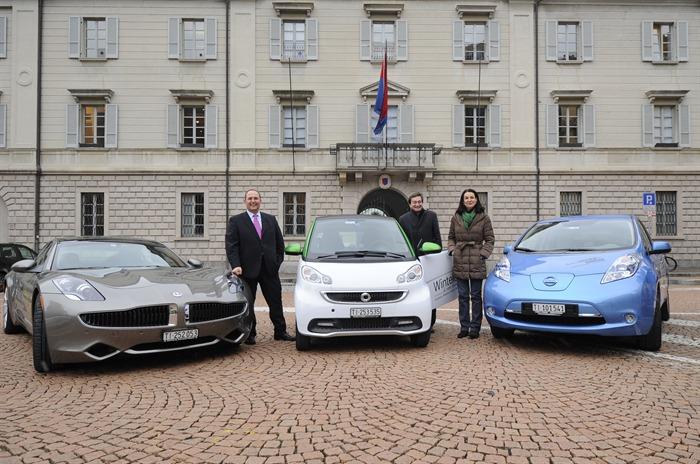 I Consiglieri di Stato in prova sulle auto elettriche